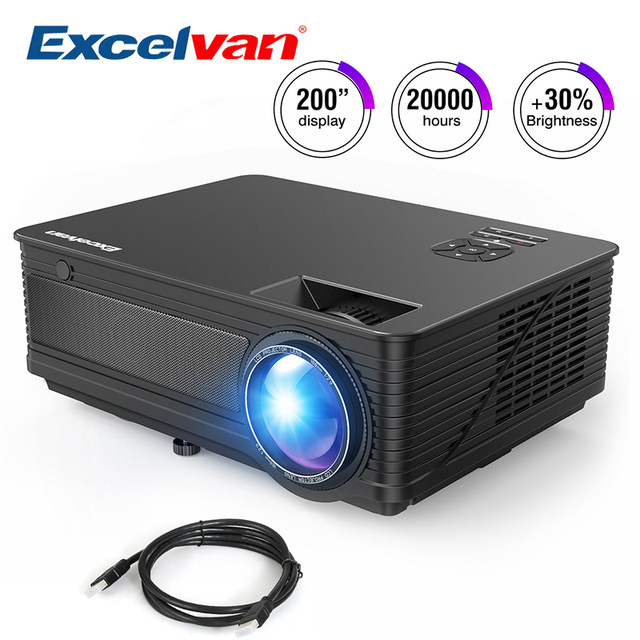 Excelvan M5 3500lumen Led Full Hd Projector Home Cinema Tv 3d Lcd Multimedia Video Game Projectors 1080p Hdmi Vga Proyector