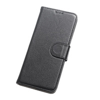Lichee Pattern Cow Leather Phone Case Wear Resistant Wallet Phone Cover Card Slot Phone Shell For
