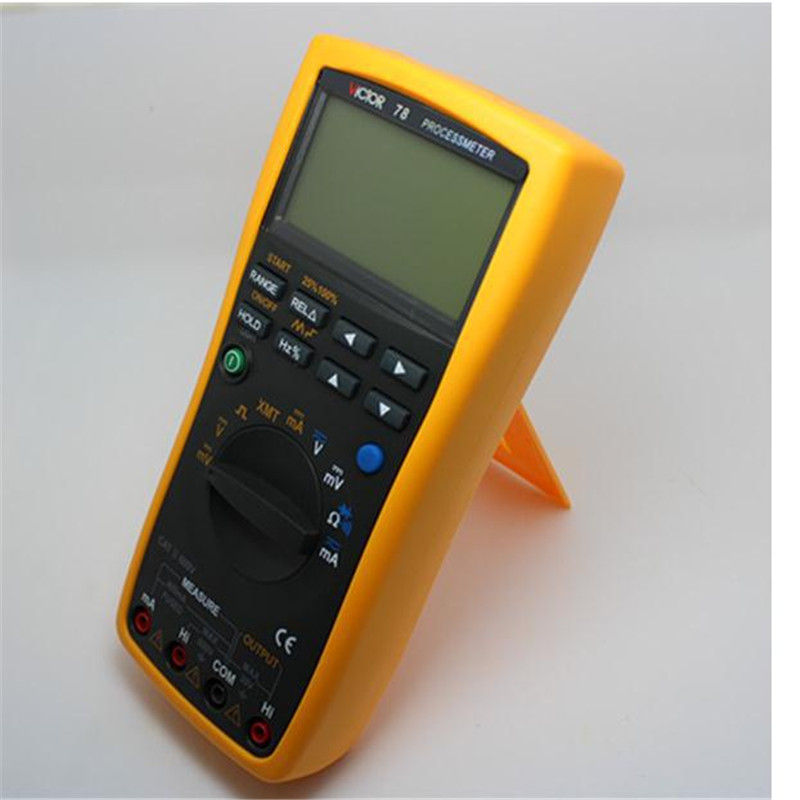VICTOR 78 multi- process calibrator multimeter to measure / output voltage and current signals analog transmitters VC 78 process oriented performance evaluation concepts and methodology