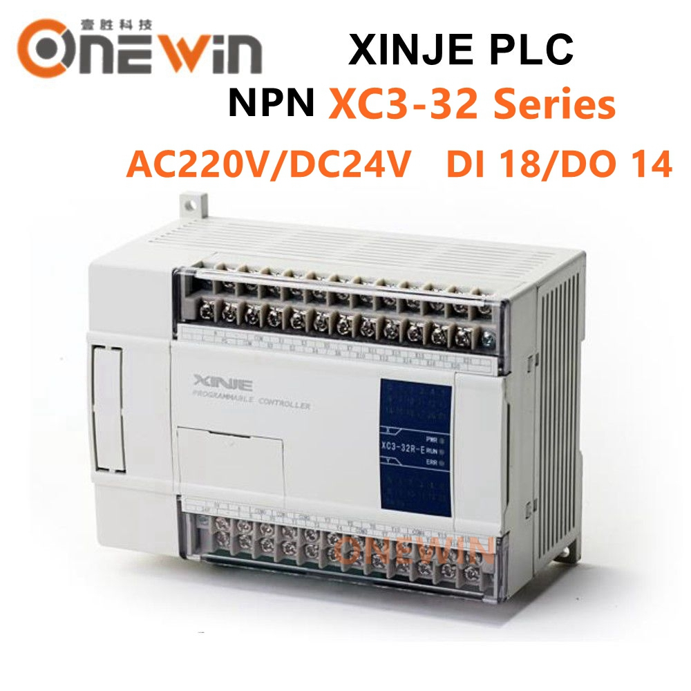 XINJE XC3 Series XINJE XC3-32R/T/RT-E/C PLC CONTROLLER MODULE AC220V DI 18 DO 14 Transistor New In Box