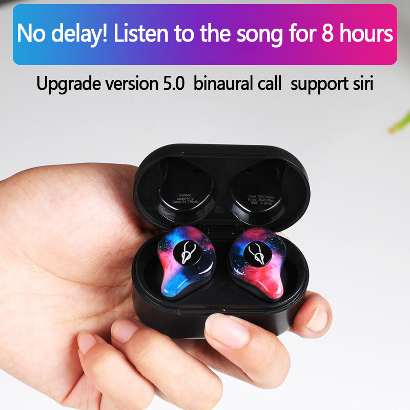 New Mini TWS Siri V5.0 BLuetooth Earphone 3D Stereo Wireless Earbuds In Ear Bluetooth Waterproof Wireless Ear Buds Headset