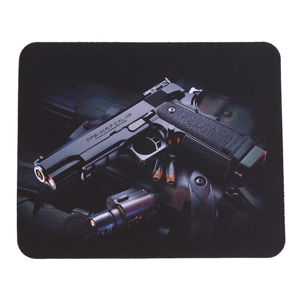 Лидер продаж! Лучшая цена рисунок пистолетов против скольжения ноутбука PC игровой коврик для мышки Мышь для мыши для оптических Laser Мышь рад...