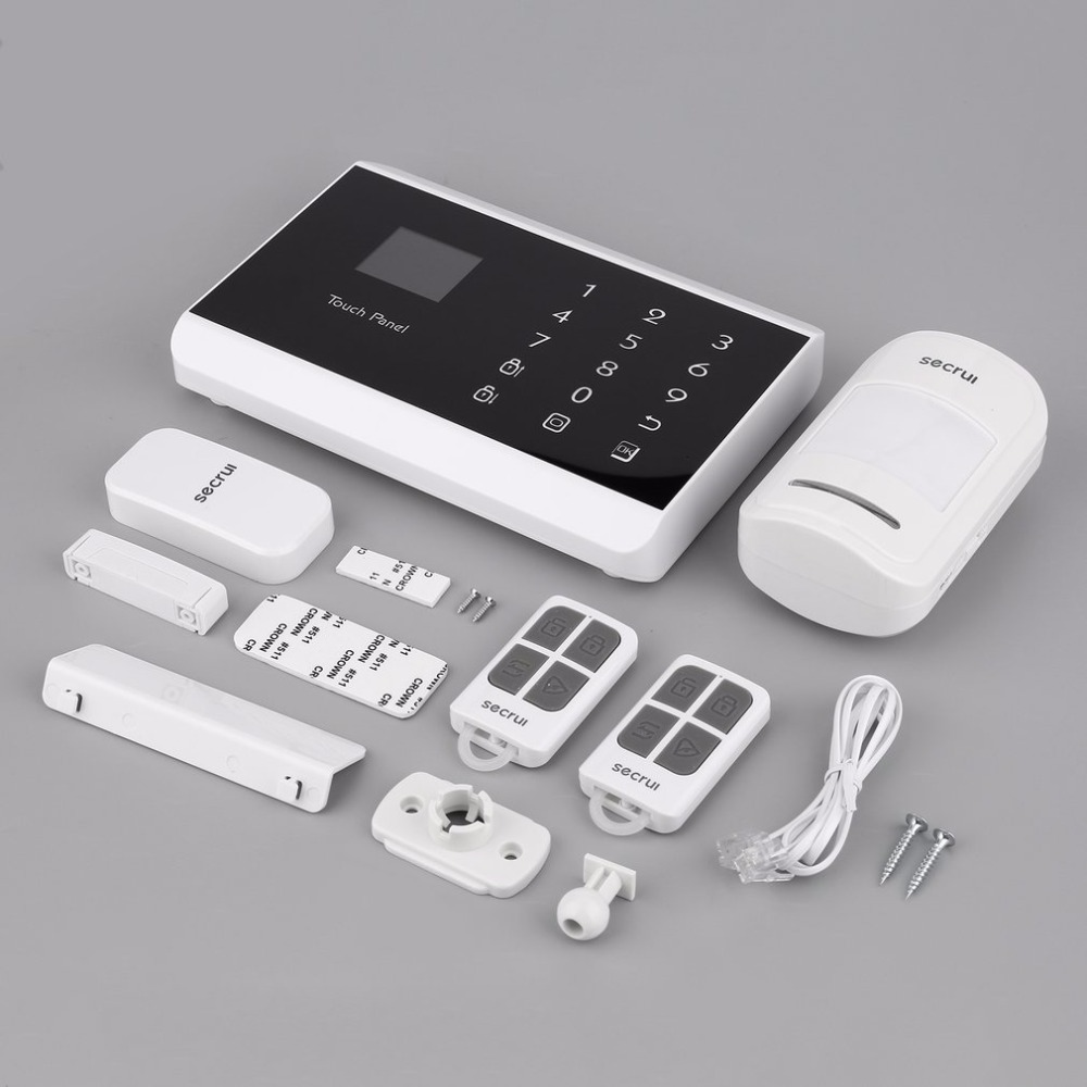 Secrui KR-8218G Touch LCD Screen Intelligent GSM Burglar Alarm System Smart Anti-thief Monitor Safe for Life Home Security датчики сигнализации kr secrui co co kr gd17
