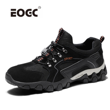 Купить с кэшбэком Spring men casual shoes genuine leather men shoes quality lace up outdoor walking shoes