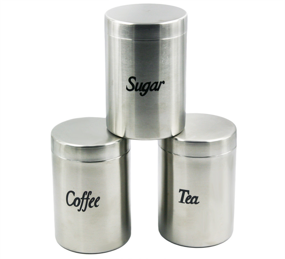 High Quality Stainless Steel Canister Coffee Tea Sugar Container Set Free Shipping In Storage Bottles Jars From Home Garden On Aliexpress Alibaba