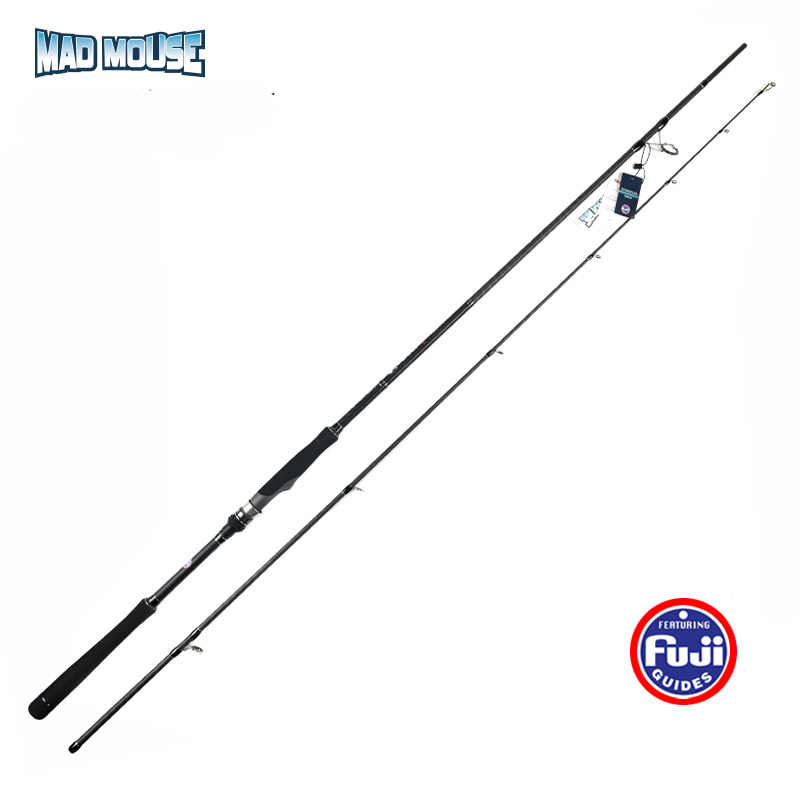 MAD MAUS 2019 Neue Volle Fuji Hohe Carbon 2.4/2.7/2,9 m MH Angelrute Japan Qualität Meer bass Ligth Shore Jigging Rod Spinning Rod