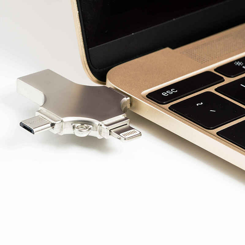 آيفون محرك فلاش Usb 3.0 Cle USB 128 جيجابايت فلاش بندريف USB-C نوع C الهاتف الذكي ميركو Usb otg ذاكرة عصا للهاتف آيفون ios