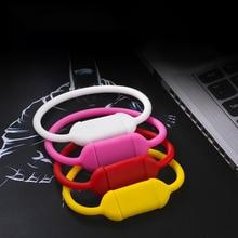 Cylindrical Silicone Bracelet U disk Personality Creative Wristband USB Flash Drive Sports Bracelets & Bangles