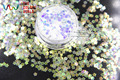 TCR6321A White with blue light shinning colors glitter Flowers shapes 3MM size  amazing sparkles for Nail Art and DIY supplies