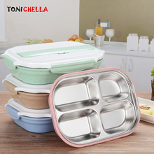 Baby Food Storage Straw Infant Lunch Dishes Children Feeding Training Container Dinnerware Set Eco-Friendly Food Dishes BB5083