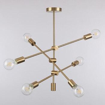золотая металлическая кровать | Современный подвесной светильник, светодиодный, для спальни, фойе, Круглый, столовая, стеклянный шар, черный, золотой, скандинавский, просто...