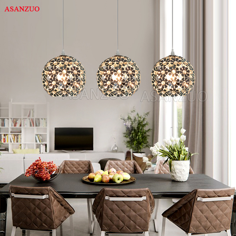 Beautiful Flower Crystal Pendant Light Modern Lighting Fixture Lustre Hanging Pendant Lamp for Dining Room Bedroom lamp|Pendant Lights| |  - title=