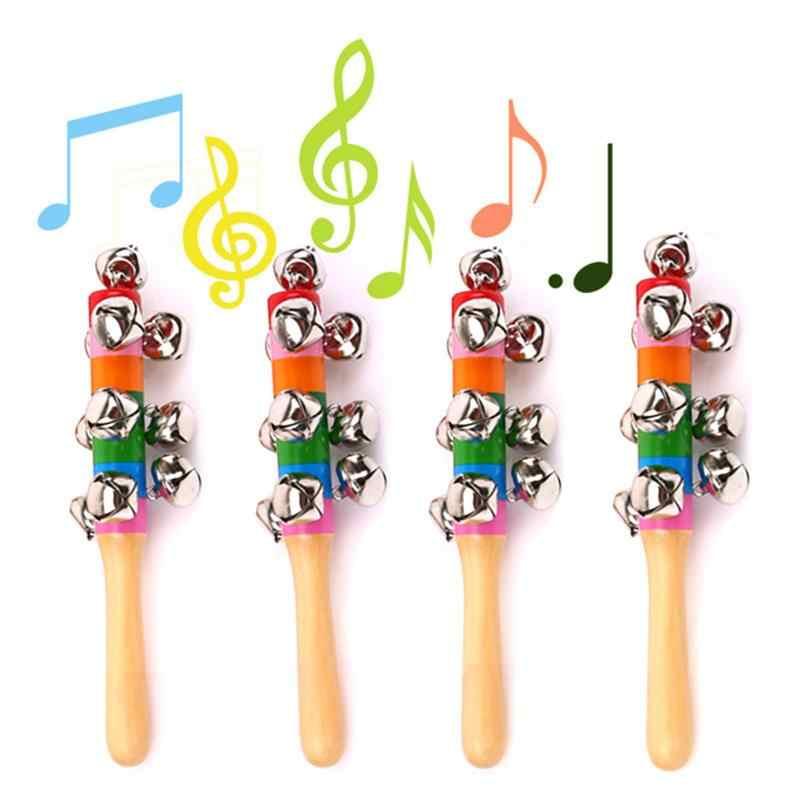 Радужный музыкальный инструмент игрушка деревянная ручная колокольчик погремушка детский подарок