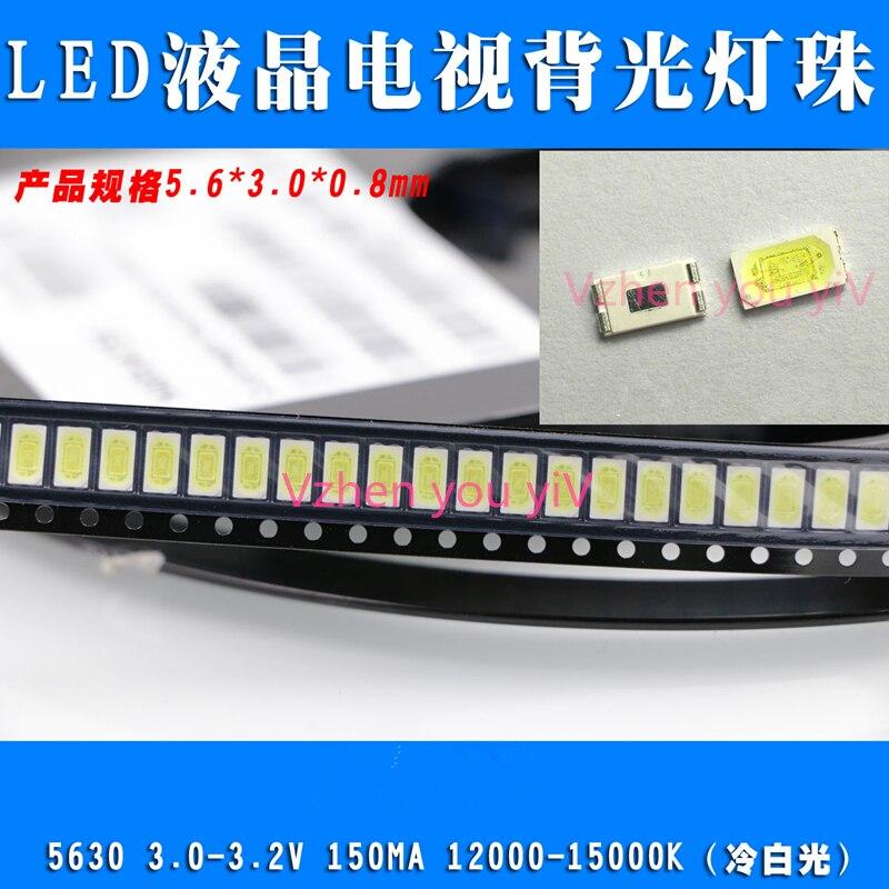500pcs High Power 5630 FOR SAMSUNG LED PLCC-4 Television Backlit Super Bright Diode SMD 5630 LCD 0.5W 3V Cool White TV Backlight