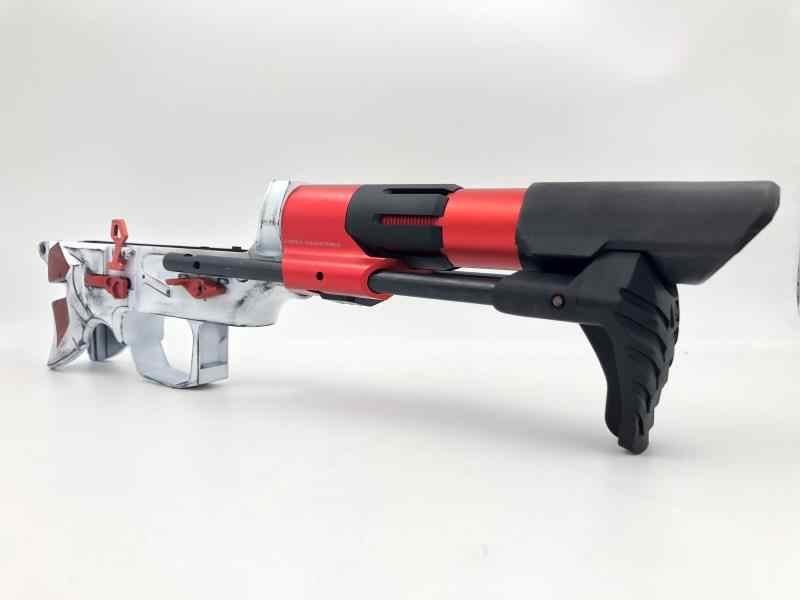 AK UNCLE Gel Ball stock Jinming 9 M4A1 GEN 8 Gel Blaster XM316 WBB Butt  Metal Toy stock Metal Butt Accessories