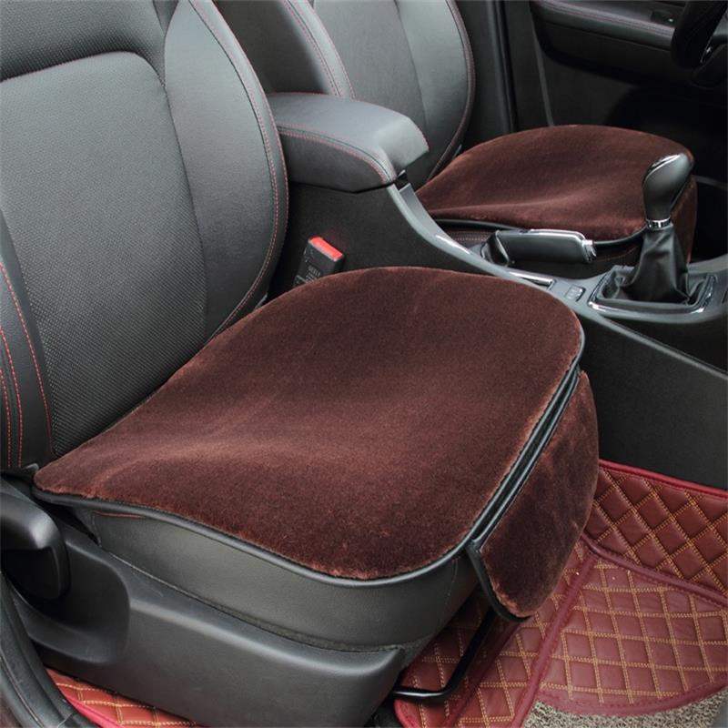 1pc square seat cover for car Universal size fake fur on the seat covers is very