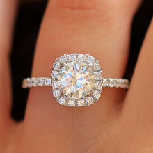 Classic Cubic Zirconia Wedding Rings for Woman Girls Charm Party Finger Jewelry Gift Bijoux Dropshipping