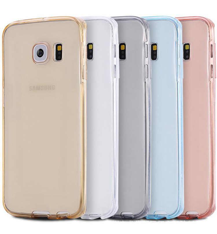 Caja del teléfono celular para Samsung galaxy S3 duos S4 S5 neo S6 S7 borde S8 Plus nota 3 4 5 funda transparente completa Core Grand Prime 360