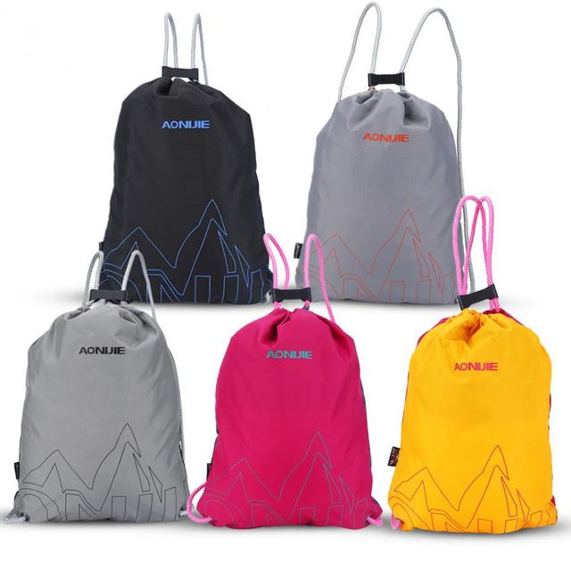 1f806601cb 5Colors Running Bags Waterproof Nylon Drawstring Backpack Storage Bag  Running Backpack Hiking Traveling Outdoor Sports Bags