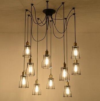 Criativo aranha restaurante luzes pingente com lâmpadas led barra/estúdio lâmpadas com controle remoto frete grátis