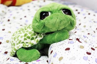 Candice guo! Hot sale super cute plush toy animal green big eyes turtle tortoise stuffed toy baby loves most 20cm 1pc
