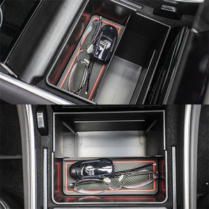 Image 3 - Auto Car Storage Trunk Bag Center Console Trash Organizer Storage Box Bin Accessories Kit for Tesla Model 3 Interior
