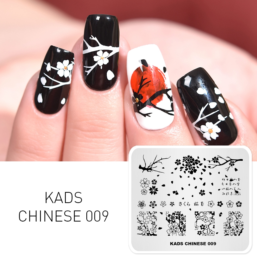 Nail Art Printer: New Arrival Nail Art Template Chinese Style Letter
