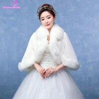 White/ngà faux fur shawl nhún cape nhún bolero coat áo cưới áo bridal bọc special occasion flare tay áo cưới khăn choàng