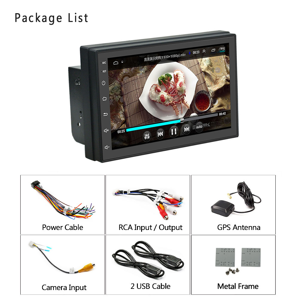 Image 5 - Podofo 2 din Car Radio Android GPS Multimedia Player Autoradio 7'' Touch Screen Bluetooth FM WIFI Auto Audio Stereo Mirrorlink-in Car Radios from Automobiles & Motorcycles
