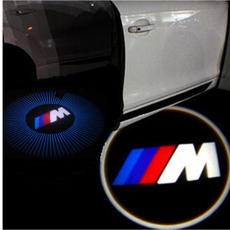 2 LED Car door courtesy laser projector Logo Ghost Shadow Light For BMW M power E60 E90 F10 GT X5 X6 X3 Z4 E85 M5 X1 E92 E89 F01 new 2pcs pair high power led ghost shadow light logo projector vehicle door courtesy laser for bmw brand car styling logo design