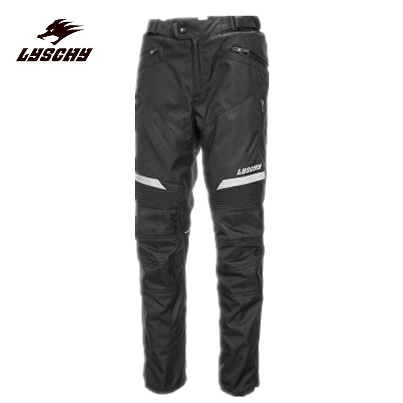 New Men's Street Racing Windproof Motorcycle Trousers Motocross Riding Sports Pants with Removable Protector Guards Black M-XXL защита для мотоциклиста racing motocross knee protector pads guards protective gear