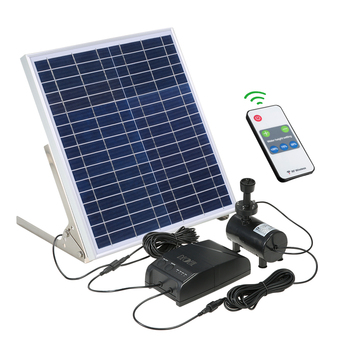 Solar Power Brunnen 15W Solar Panel + 3,6 W Bürstenlosen Wasserpumpe Kit mit Lagerung Batterie Fernbedienung für garten Teich