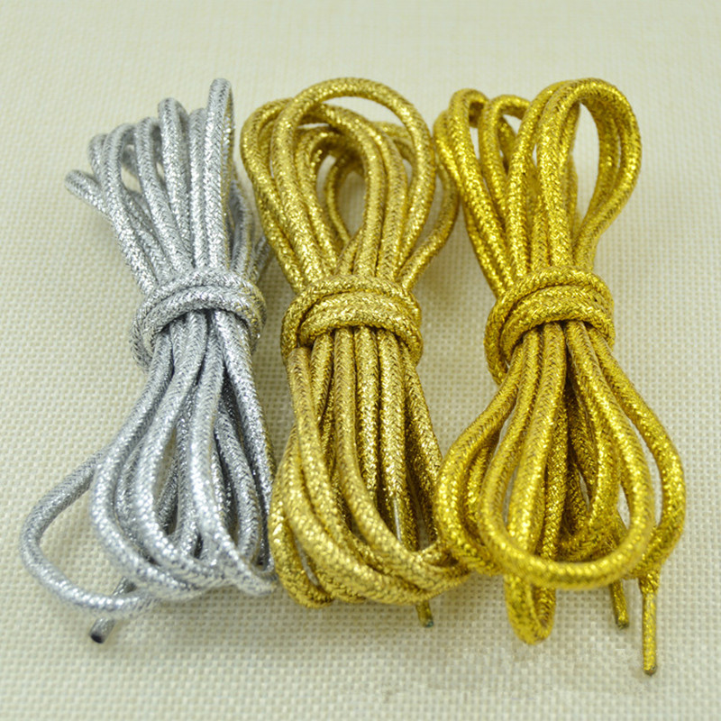 Shiny Gold and Silver Colorful Bright Round Shoelaces 15 Colors 113 cm Sneaker Sport Shoes Laces Bootlaces Shoe laces StringsShiny Gold and Silver Colorful Bright Round Shoelaces 15 Colors 113 cm Sneaker Sport Shoes Laces Bootlaces Shoe laces Strings