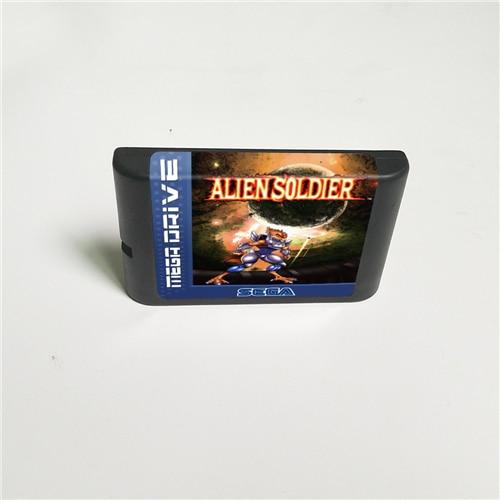 Alien Soldier 16 Bit MD Game Card For Sega Megadrive Genesis Video Game Console Cartridge