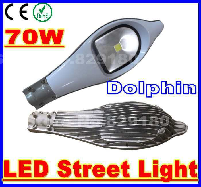 10 pieces/lot 70W Dolphin LED street light AC 85-265V outdoor road lamp With Bridgelux chip Cool White/Warm White/Natural White free shipping 15w led ceiling lamp lantern indoor lamp led spotlight cool warm white 85 265v