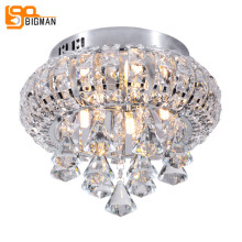 new beautiful design crystal ceiling lights modern LED plafondlamp Dia28*H27cm lustre bedroom ceiling lamps(China)