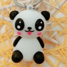 PVC Soft Rubber Cartoon Key Link Giant Panda Creative Gift Accessories