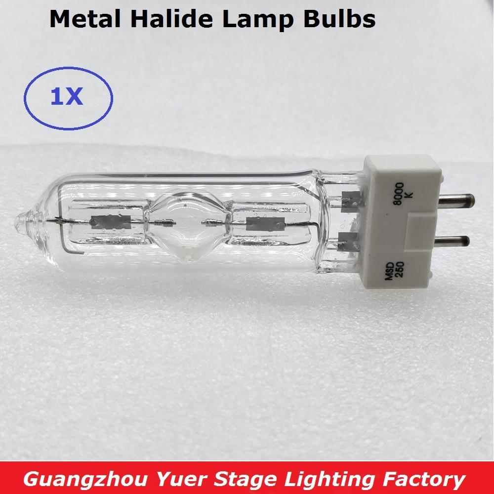Disco lámpara Dj luz de la etapa de la lámpara MSD 250/2 MSD250W Watts 90 V MSR bombilla NSD 250 W 8000 K de Metal bombillas de luces de cabeza móvil de lámpara halógena