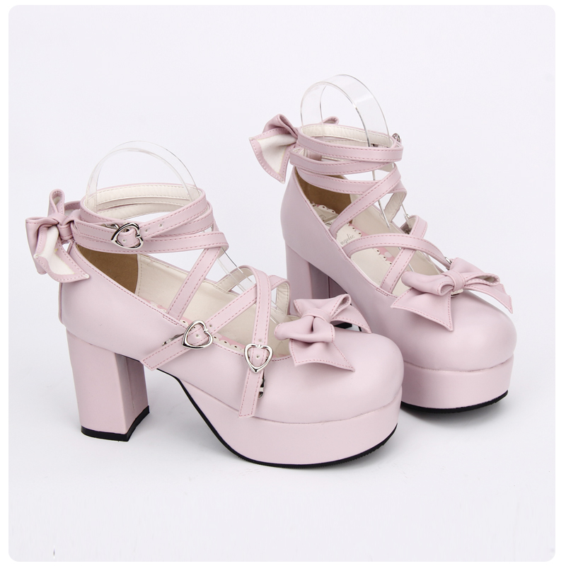 Princess sweet lolita shoes Summer and spring casual fashion shoes with rough heels round head shallow mouth shoes pu9803APrincess sweet lolita shoes Summer and spring casual fashion shoes with rough heels round head shallow mouth shoes pu9803A
