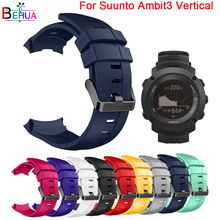 Sport Silicone watchband strap For Suunto Ambit3 Vertical Watch Replacement Multi-Color Quality Bracelet watch straps Wristband смарт часы suunto ambit3 vertical hr синий ss021968000