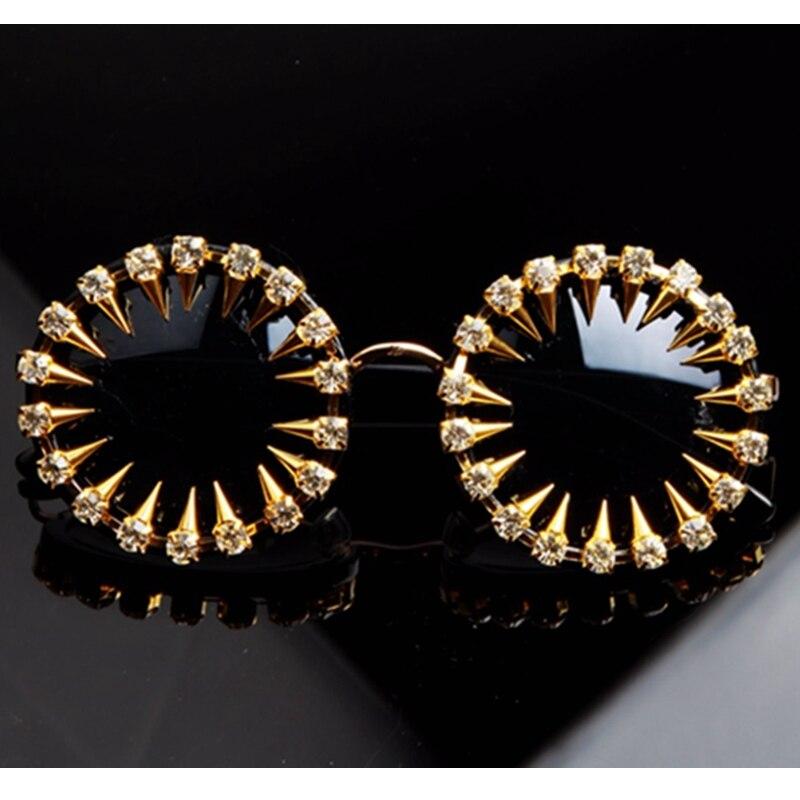 2018 Mens designer sonnenbrille Coole Mode niet steampunk sonnenbrille Strass Runde Sonnenbrille Frauen Unique Style UV400
