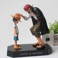 2018 modelo Del Anime de One Piece Luffy y Shanks Acción PVC Figuras De Colección Modelo Juguetes 18 CM