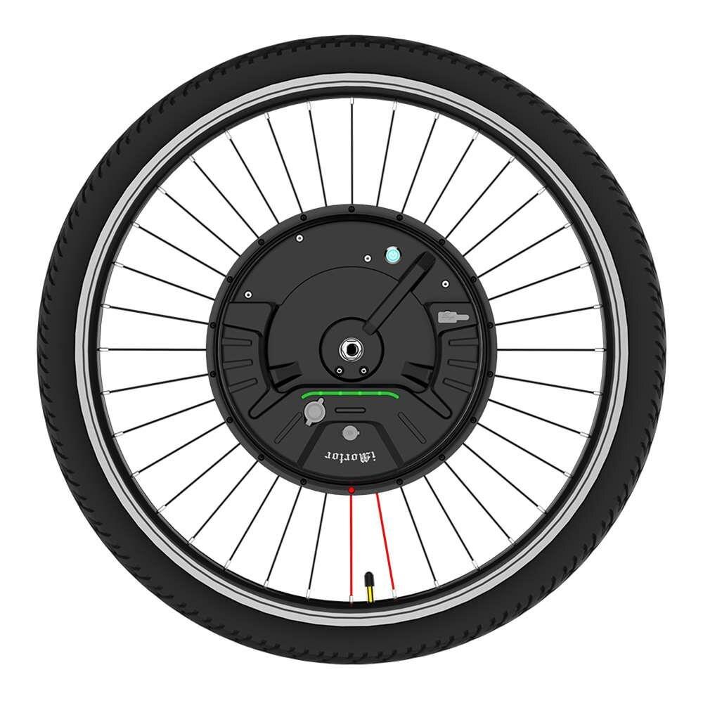 IMortor 3 Motor de Imã Permanente DC Roda de Bicicleta 26 polegadas com App Controle de Velocidade Ajustável Modo plug EUA/UE plug aceleração
