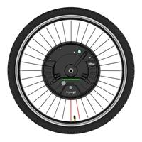 iMortor 3 Permanent Magnet DC Motor Bicycle Wheel 26 inches with App Control Adjustable Speed Mode US plug/EU plug acceleration