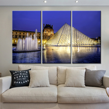 New 3 Pieces/sets Canvas Art Canvas Paintings 3 Panels HD Night Music Fountain Decorations For Home Wall Art Prints Canvas\A327