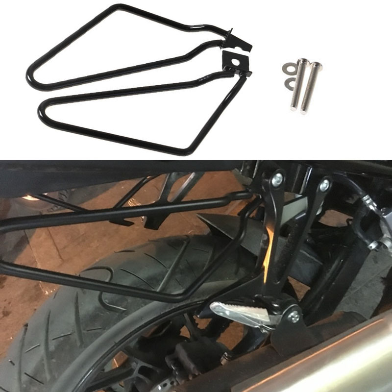 Motorcycle Saddlebags Support Bars Trunk Bag Holder for Harley Sportster X48 72 XL 883 1200 Iron XL883N Dyna Fat Bob FXDF in Covers Ornamental Mouldings from Automobiles Motorcycles