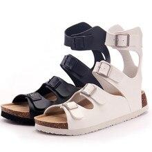 2016 neue Mode Frauen Persönlichkeit Schuhe Strand Schuhe Kork Sandalen Frauen Sandalen Knöchelriemen Sandalen Rom Rutschen Plus Größe 35-40