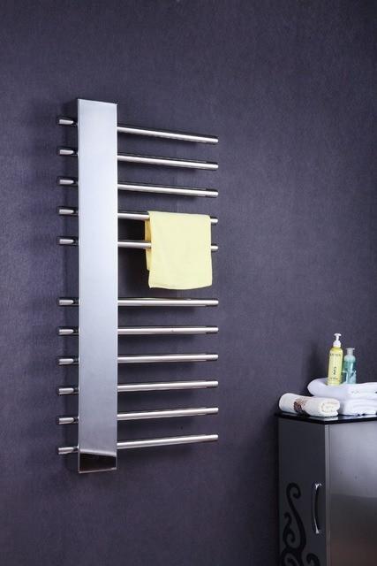 Luxe Verticale wall mount badkamer handdoekenrek verwarmde ...