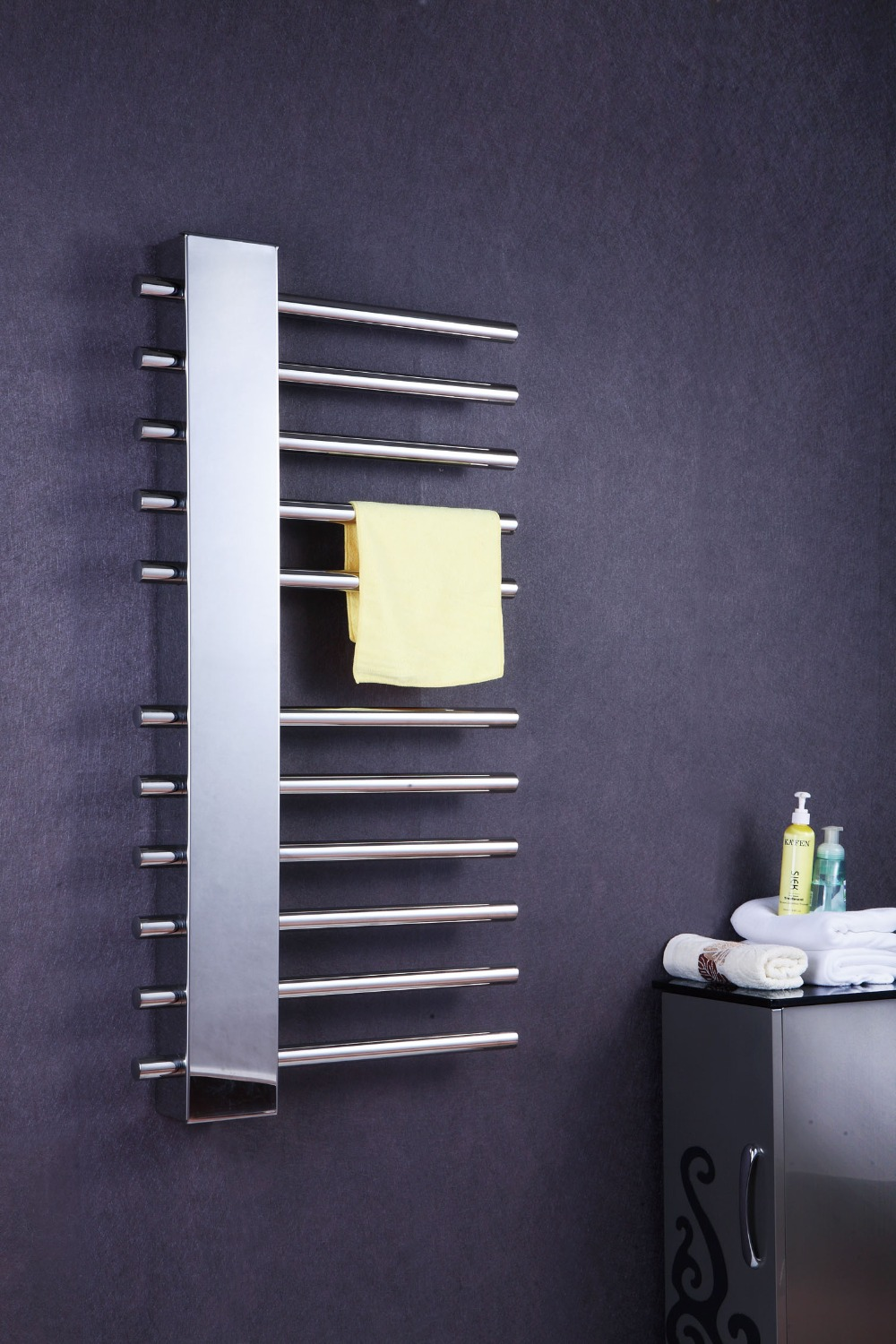 Luxury Vertical wall mount bathroom towel rack heated ...