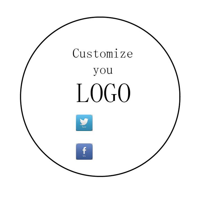 100 pcs Customized Company Logo Stickers Personalized Publicity Ad Design Clear Stickers Party Favors Labels Any Text кабель publicity hd580 hd600 hd650